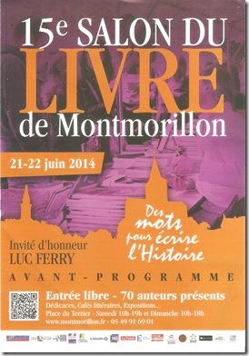 Affiche Salon du Livre Montmorillon 001